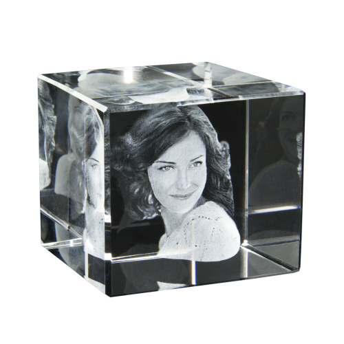 3D Portrait  in Glas