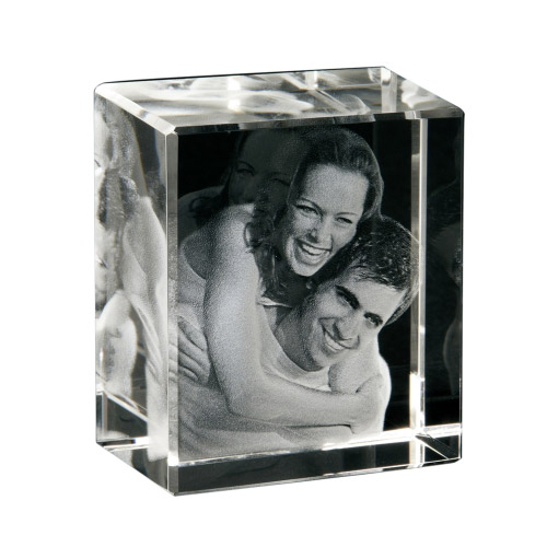 3D Portrait - Glasbild