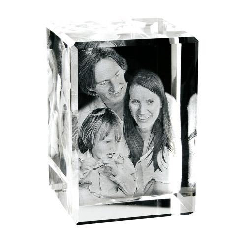 Foto in Glas als 3D Portrait