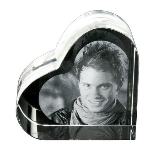 Foto in Glas - Herz klein
