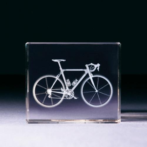 Glasblock - Fahrrad
