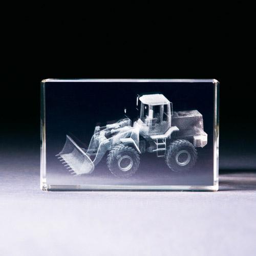 Glasblock - Schaufellader