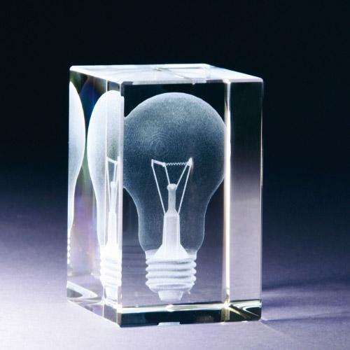Glasblock - Glühbirne