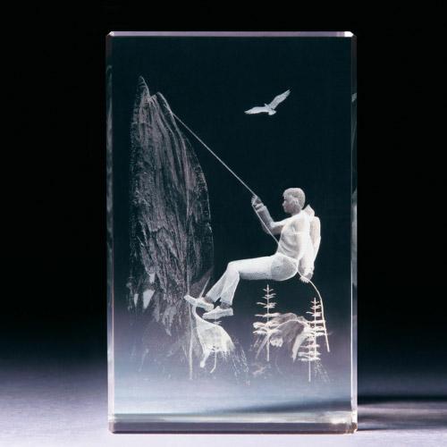 Glasblock - Bergsteiger