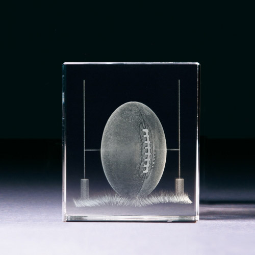 Glasblock - Rugbyball