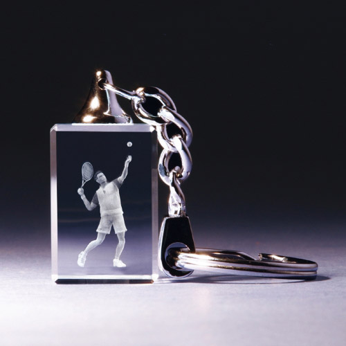 Schlüsselanhänger - Tennisspieler