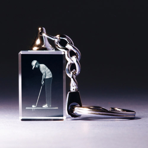 Schlüsselanhänger - Golfer beim Putten