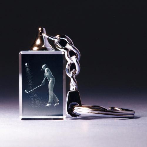 Schlüsselanhänger - Golferin im Bunker