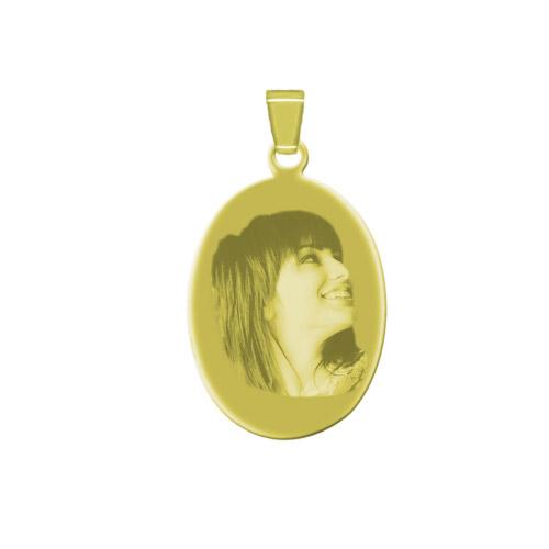 Schmuckanhänger mit Gravur Oval - gold