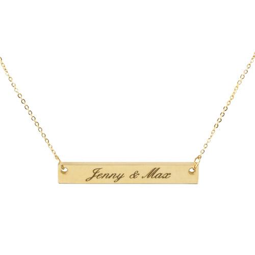 Halskette mit Gravur gold