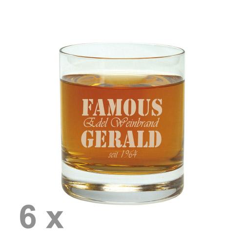 Trinkglas mit Außengravur klein 6er Set