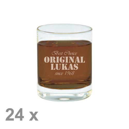 24 x Schnapsglas M mit Gravur