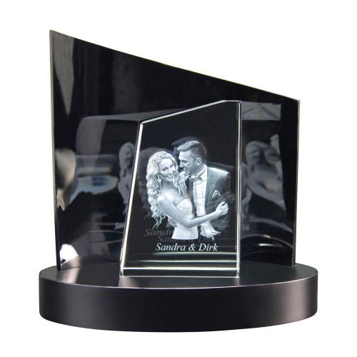 3D Glasfoto TOWER S + Clarisso® Sockel - SET