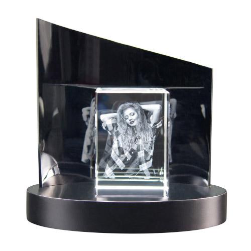 3D Glasfoto + Clarisso® Sockel - SET - 100x70x60 hoch