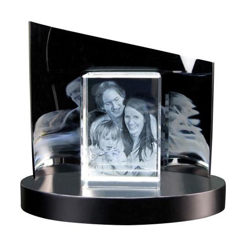 3D Glasfoto + Clarisso® Sockel - SET - 130x90x75 hoch