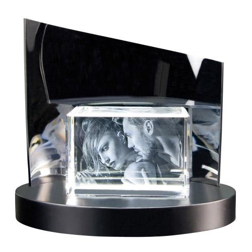 3D Glasfoto + Clarisso® Sockel - SET - 130x90x75 quer