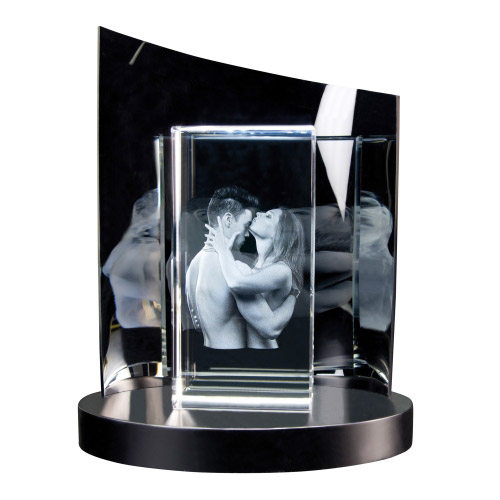 3D Glasfoto + Clarisso® Sockel - SET - 200x100x50 hoch