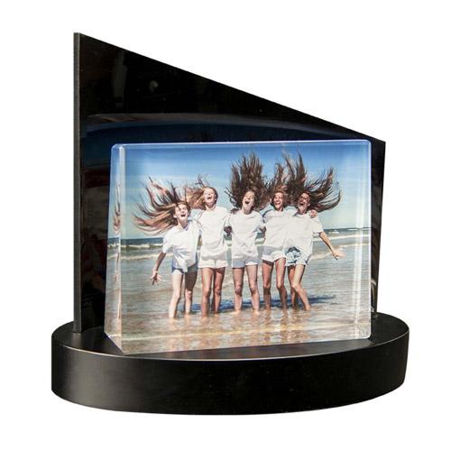 Foto auf Glasframe + Clarisso® Sockel - SET - 105x80x30 quer