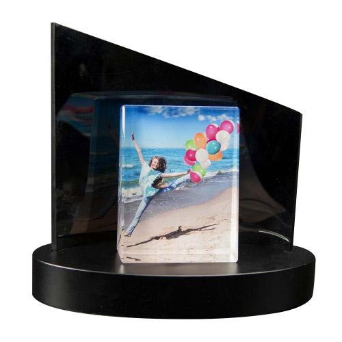Foto auf Glasframe L + Clarisso® Sockel - SET - 105x140x35 hoch