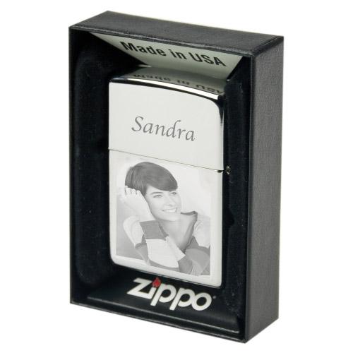 ZIPPO Feuerzeug mit Foto Gravur