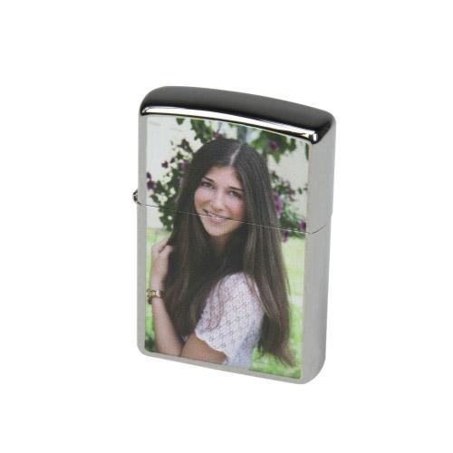 ZIPPO Chrom-Feuerzeug mit Fotodruck