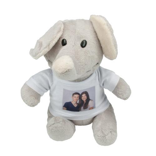 Stofftier - Elefant mit Foto