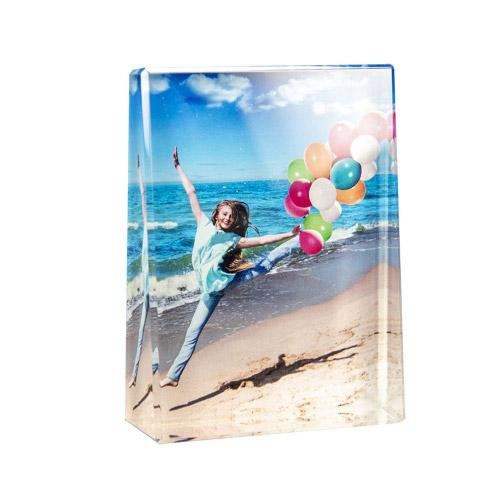 Glasframe mit Fotodruck - L hoch