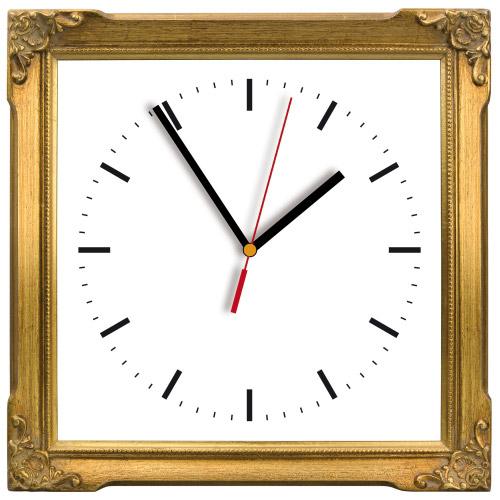 Wanduhr My Clock - Goldrahmen