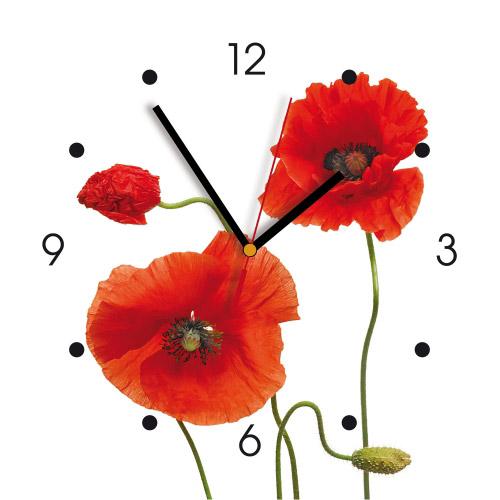 Wanduhr My Clock Klatschmohn