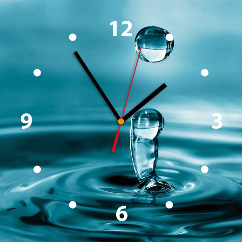 Wanduhr My Clock - Wassertropfen