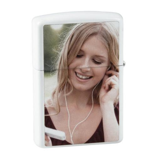 ZIPPO Feuerzeug mit Fotodruck weiß
