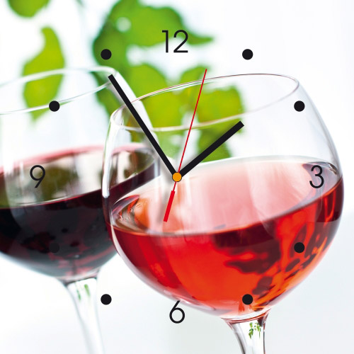 Wanduhr My Clock - Rotwein