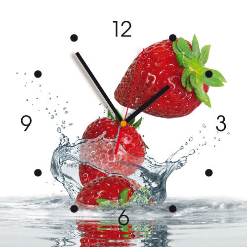 Wanduhr My Clock - Erdbeeren