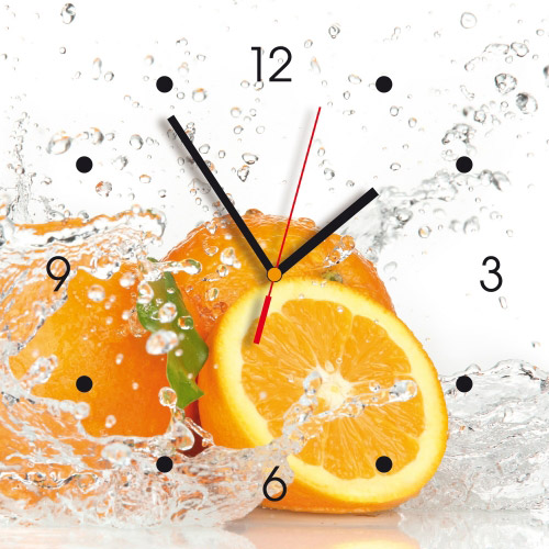 Wanduhr My Clock - Orangen