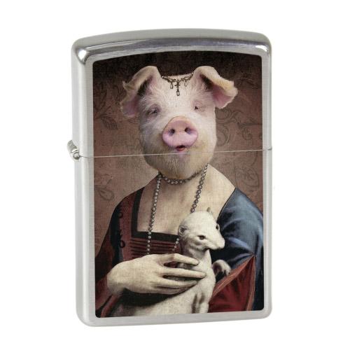 ZIPPO Feuerzeug - Frau Schwein