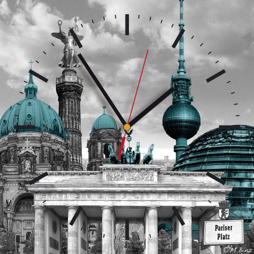Wanduhr quadratisch - Berlin
