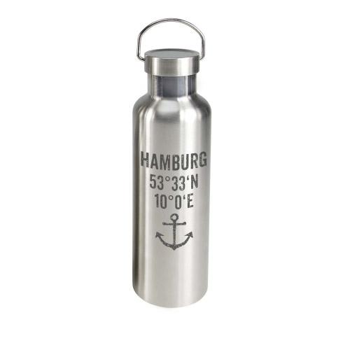 TO GO Trinkflasche 0,75 l HAMBURG KOORDINATEN´´´´