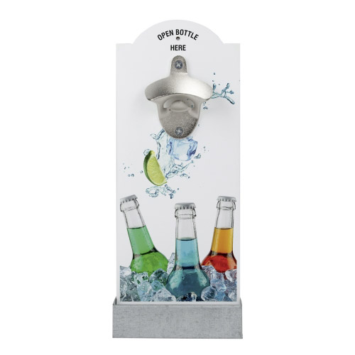 Wand-Flaschenöffner - Bunte Flaschen