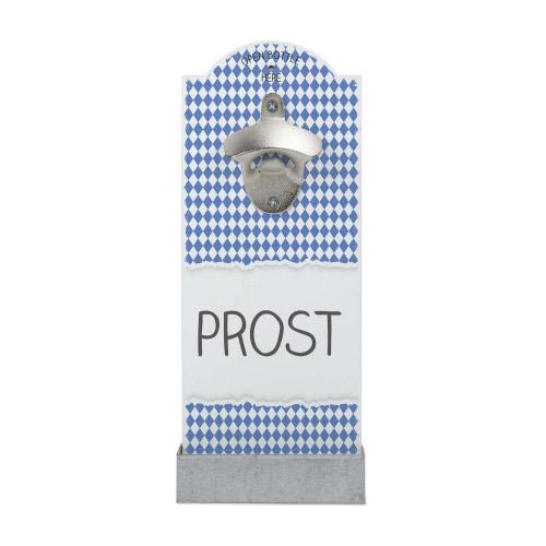 Wand-Flaschenöffner Weiß-Blau PROST