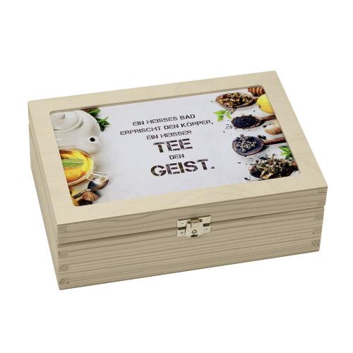 teabox holz ein hei es bad tee kanne contento. Black Bedroom Furniture Sets. Home Design Ideas