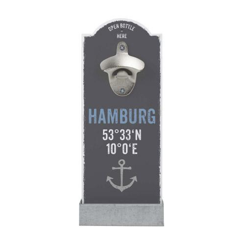 Wand-Flaschenöffner HAMBURG KOORDINATEN