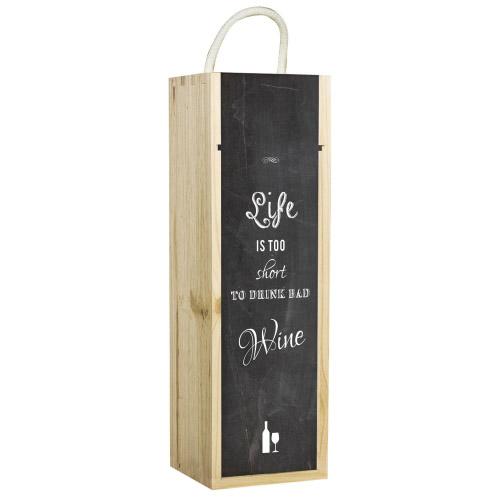 Weinbox mit Tafeloptik-Motiv