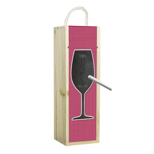 Weinbox rot mit Tafelfunktion