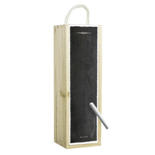 Weinbox schwarz mit Tafelfunktion