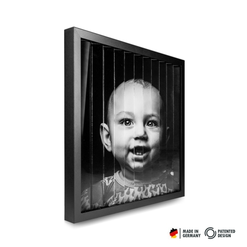 zickzackfoto personalisiert - 42 x 42 cm Rahmen schwarz