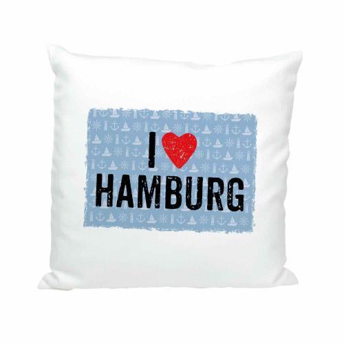 Soft Kissen I LOVE HAMBURG