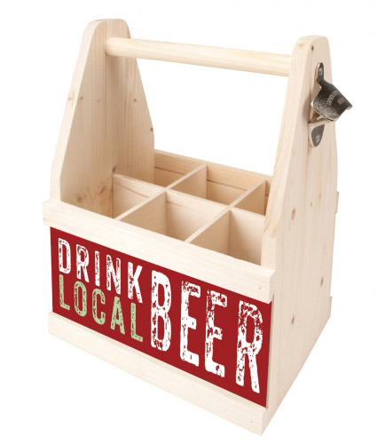 Beer Caddy DRINK LOCAL BEER
