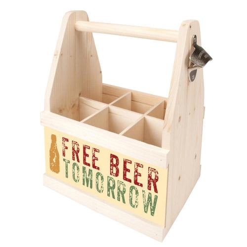 Beer Caddy FREE BEER TOMORROW bei Contento Geschenke-Shop