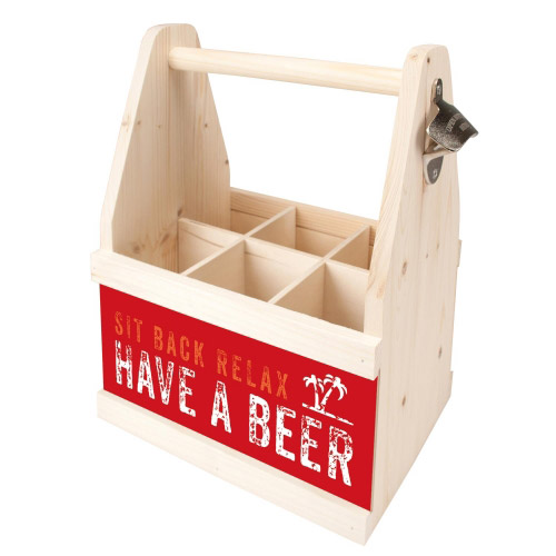 Beer Caddy SIT BACK RELAX HAVE A BEER