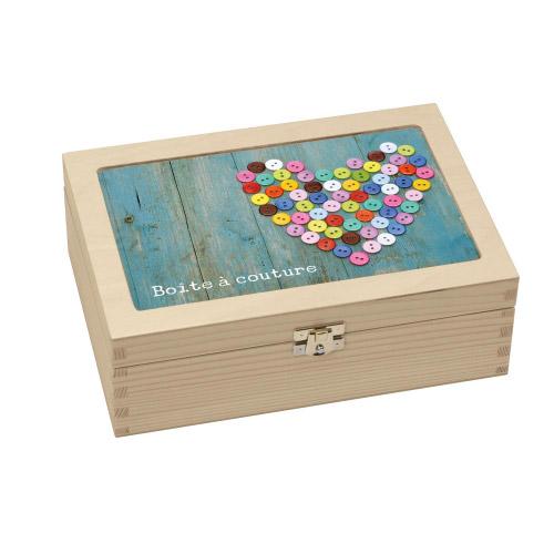 Utensil box aufbewahrungsbox aus holz boite couture for Boite a couture design